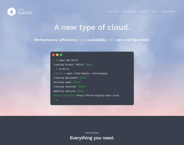 Deploy your server-side swift project to Vapor cloud