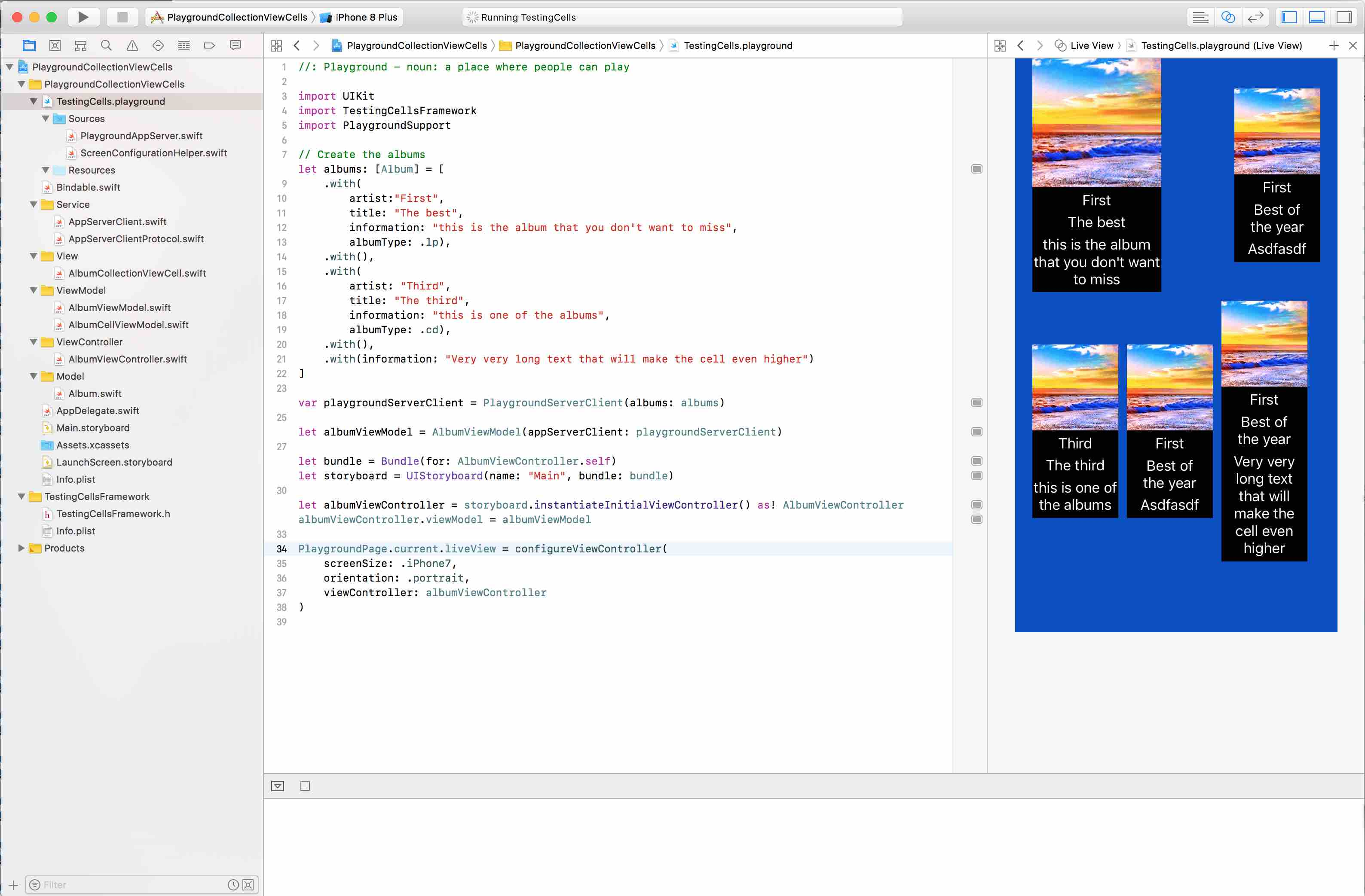 How to use Swift playgrounds to help with UI development